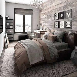 imagem mostrando opação de quarto com cama de casal